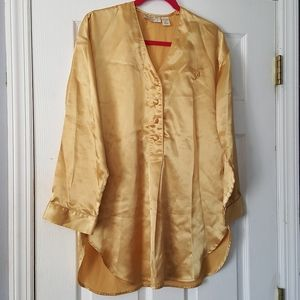 Vintage Victoria's Secret night gown gold 80s 90s